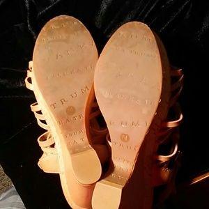 Ivanka Trump Shoes - IVANKA TRUMP Leather Wedge Cut Out Sandals